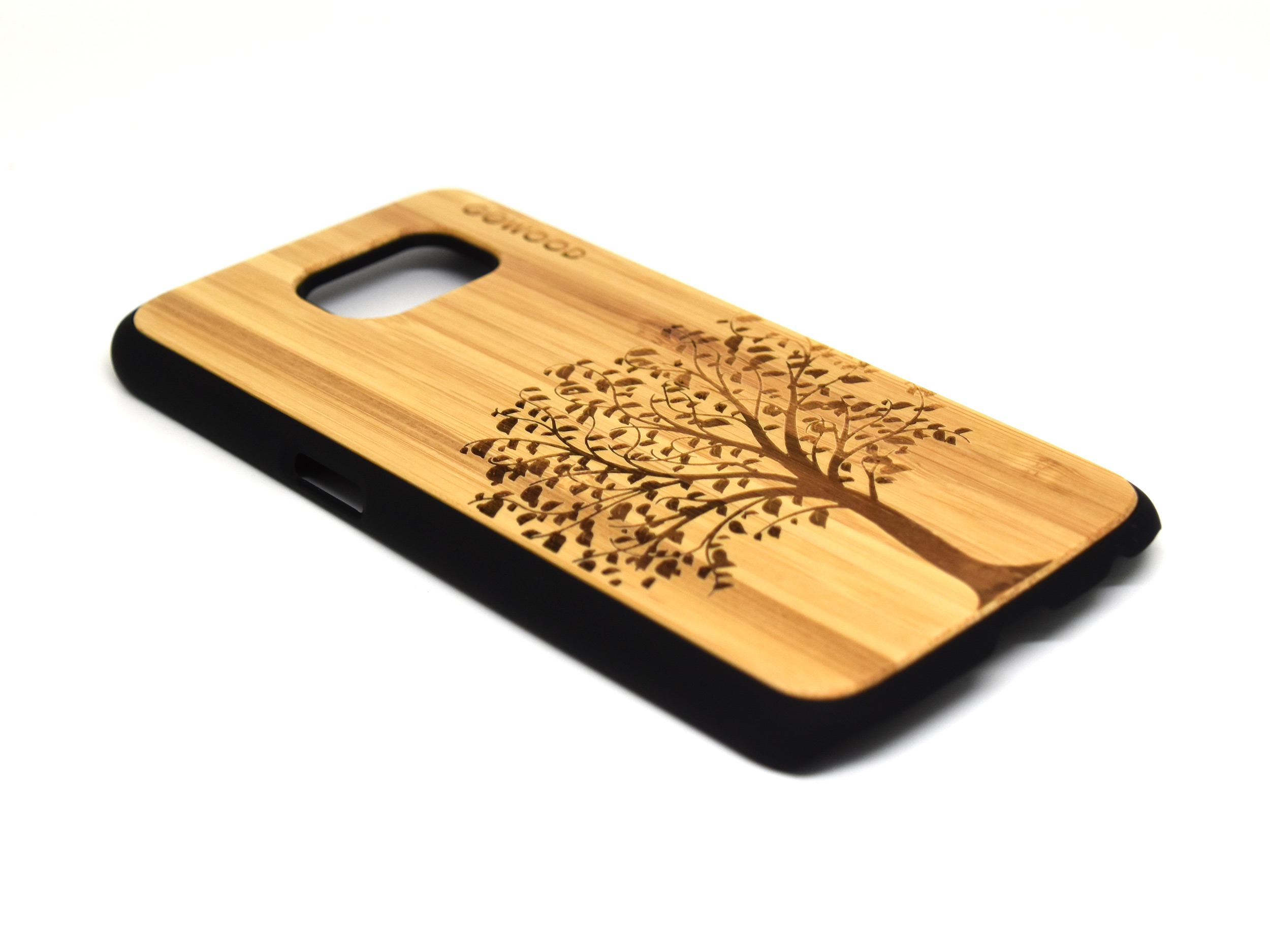 Samsung Galaxy S6 case bamboo wood with tree