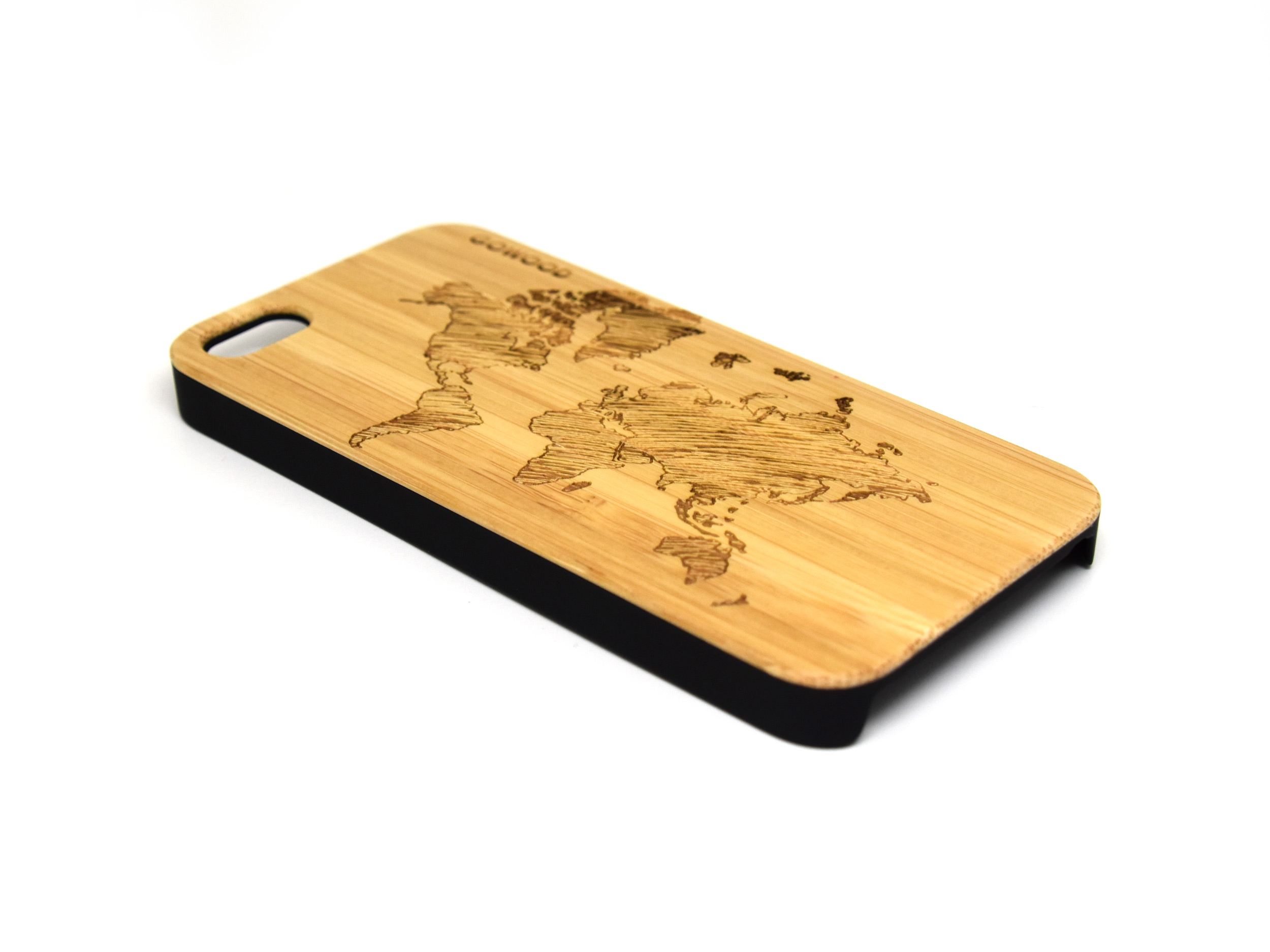 iphone 5 case bamboo wood with deer