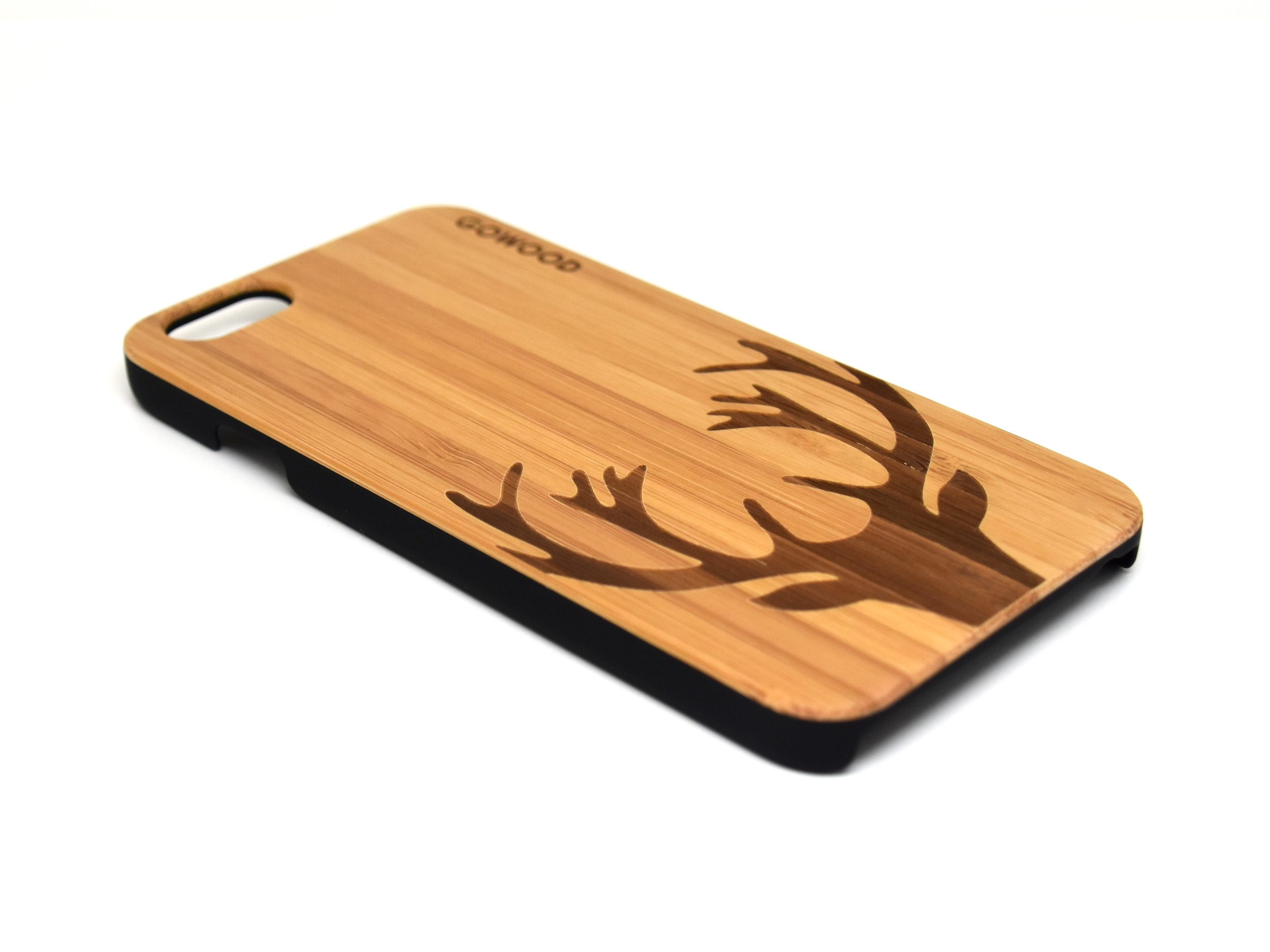 iphone 6 case bamboo wood with deer