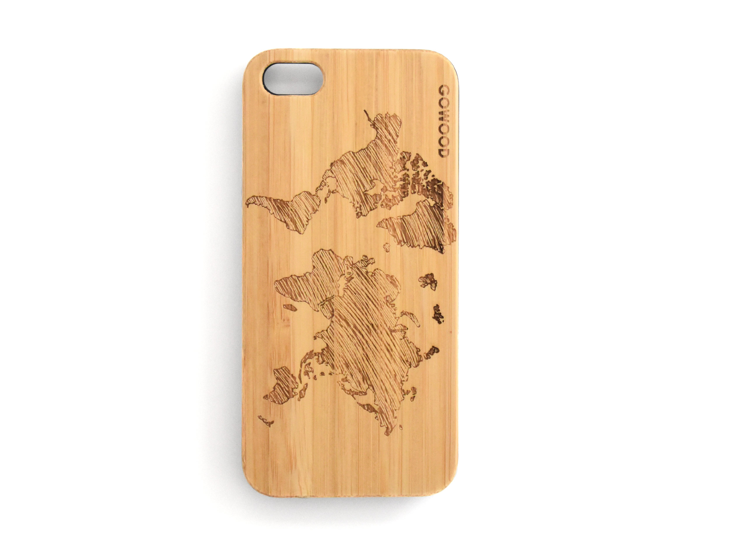 iPhone 5(S) case top world map