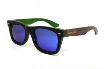 Wayfarer sunglasses with blue mirror lens Bangkok II angle