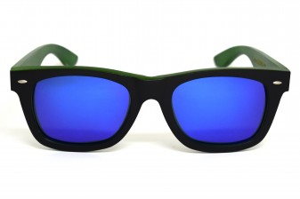Wayfarer sunglasses with blue mirror lens Bangkok II front