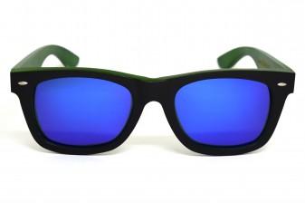 Wayfarer sunglasses with blue mirror lens Bangkok II front
