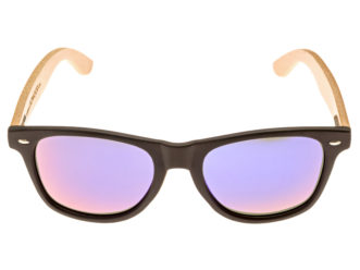 classic wayfarer sunglasses blue mirrored lenses front