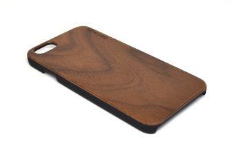 iPhone 6 case walnut wood angle left