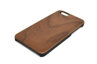 iPhone 6 case walnut wood angle right