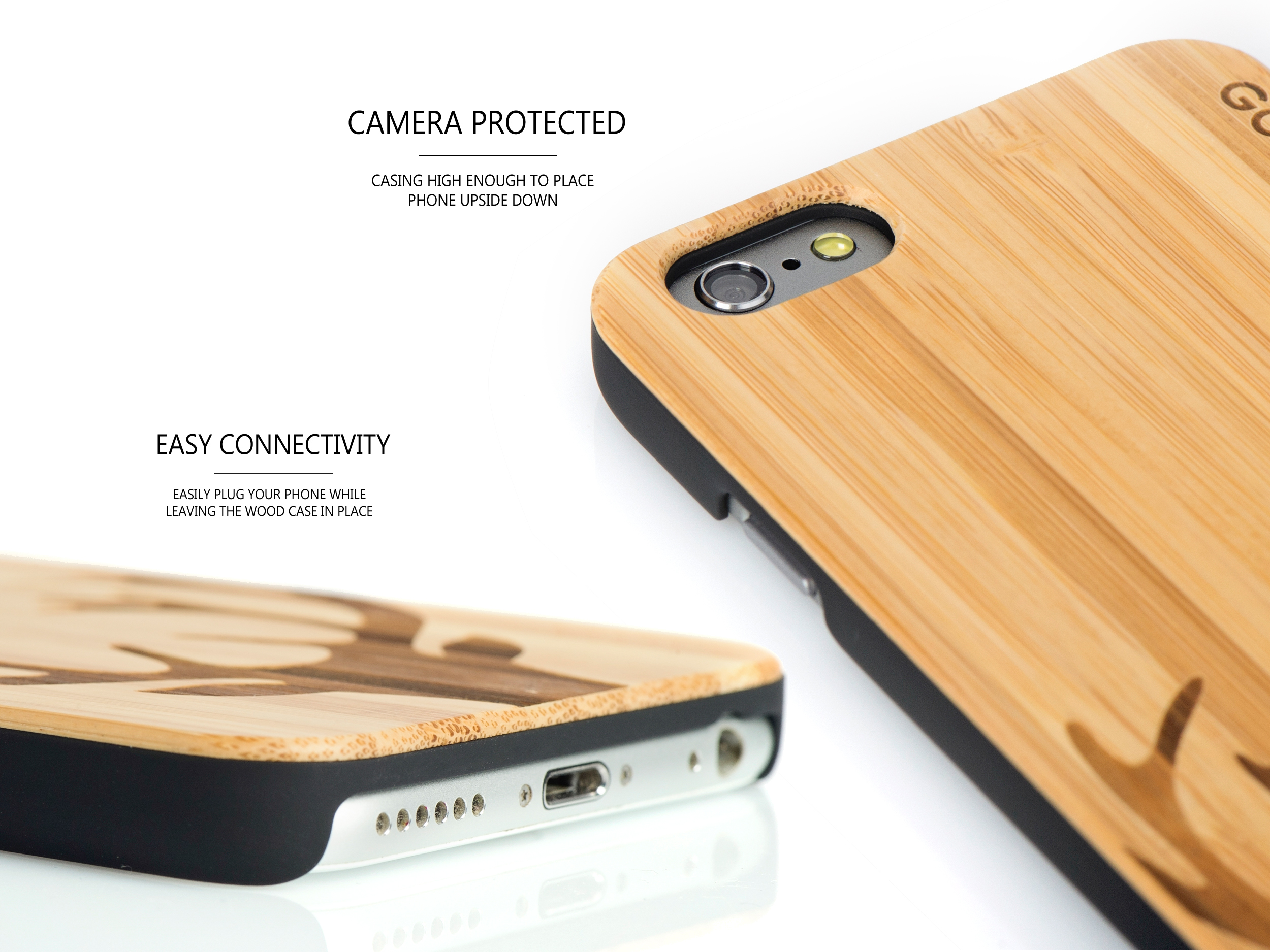 iPhone 6 case bamboo deer wood camera