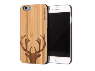 iPhone 6 case bamboo deer wood front