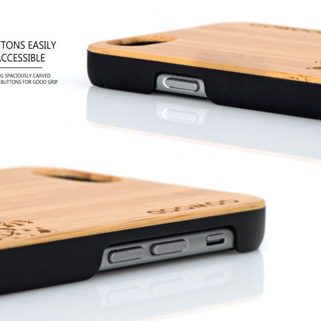iPhone 6 case bamboo tree wood buttons