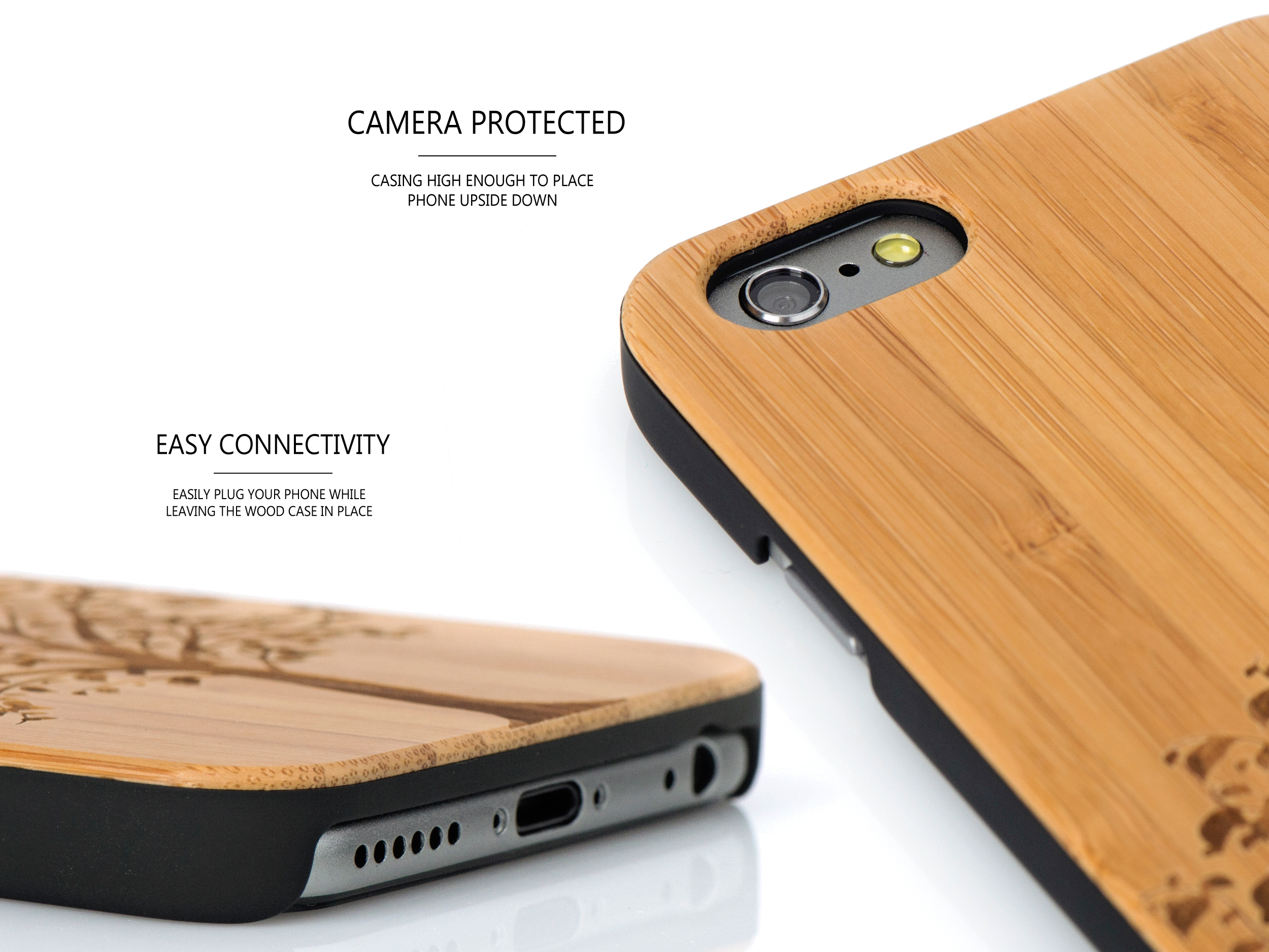 iPhone 6 case bamboo tree wood camera