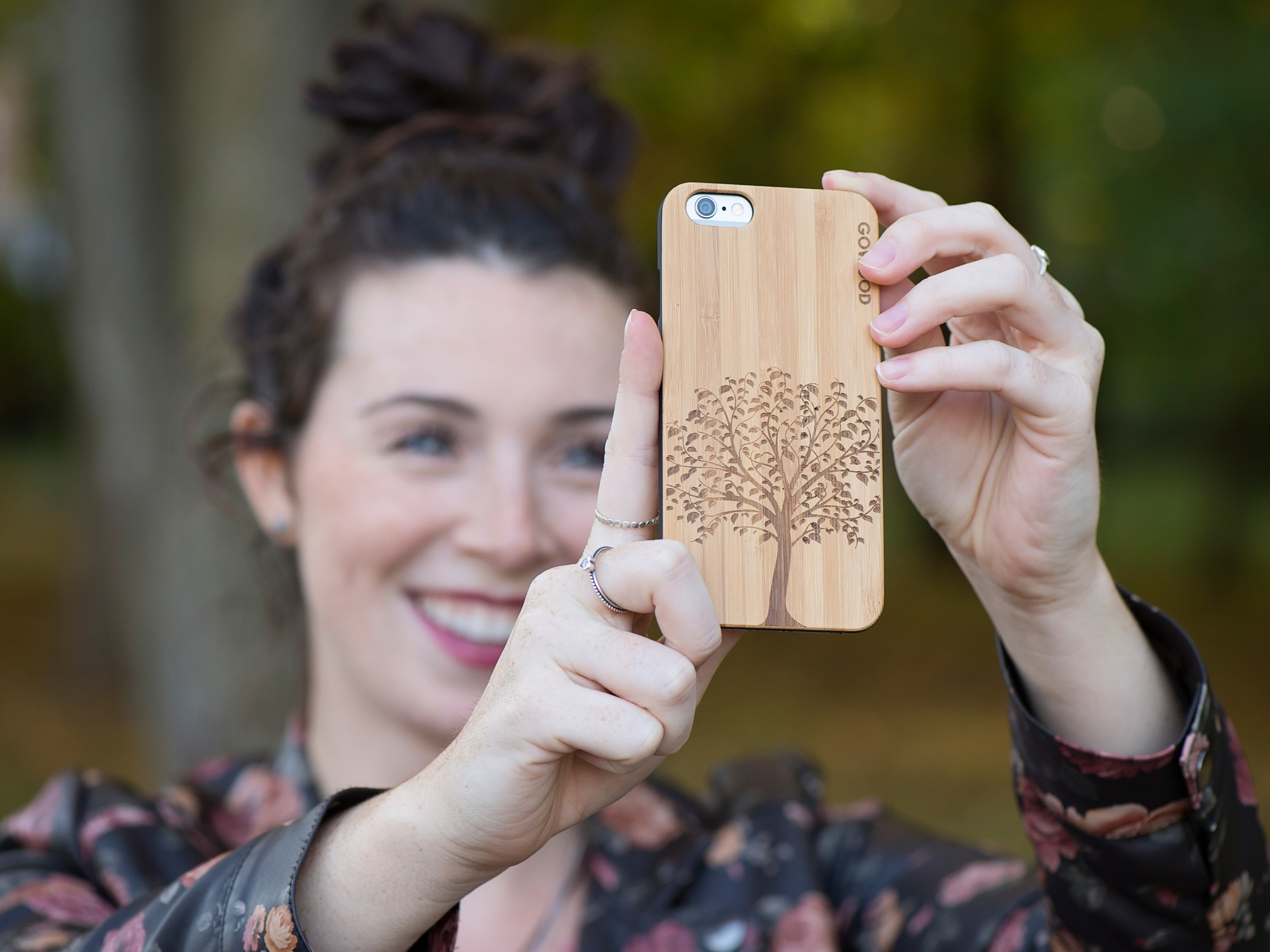 iPhone 6 case bamboo tree wood use