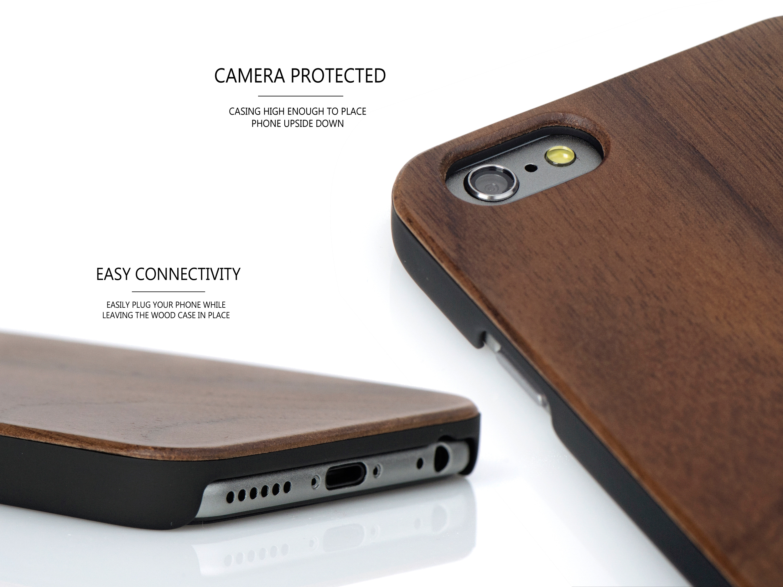 iPhone 6 case walnut wood camera