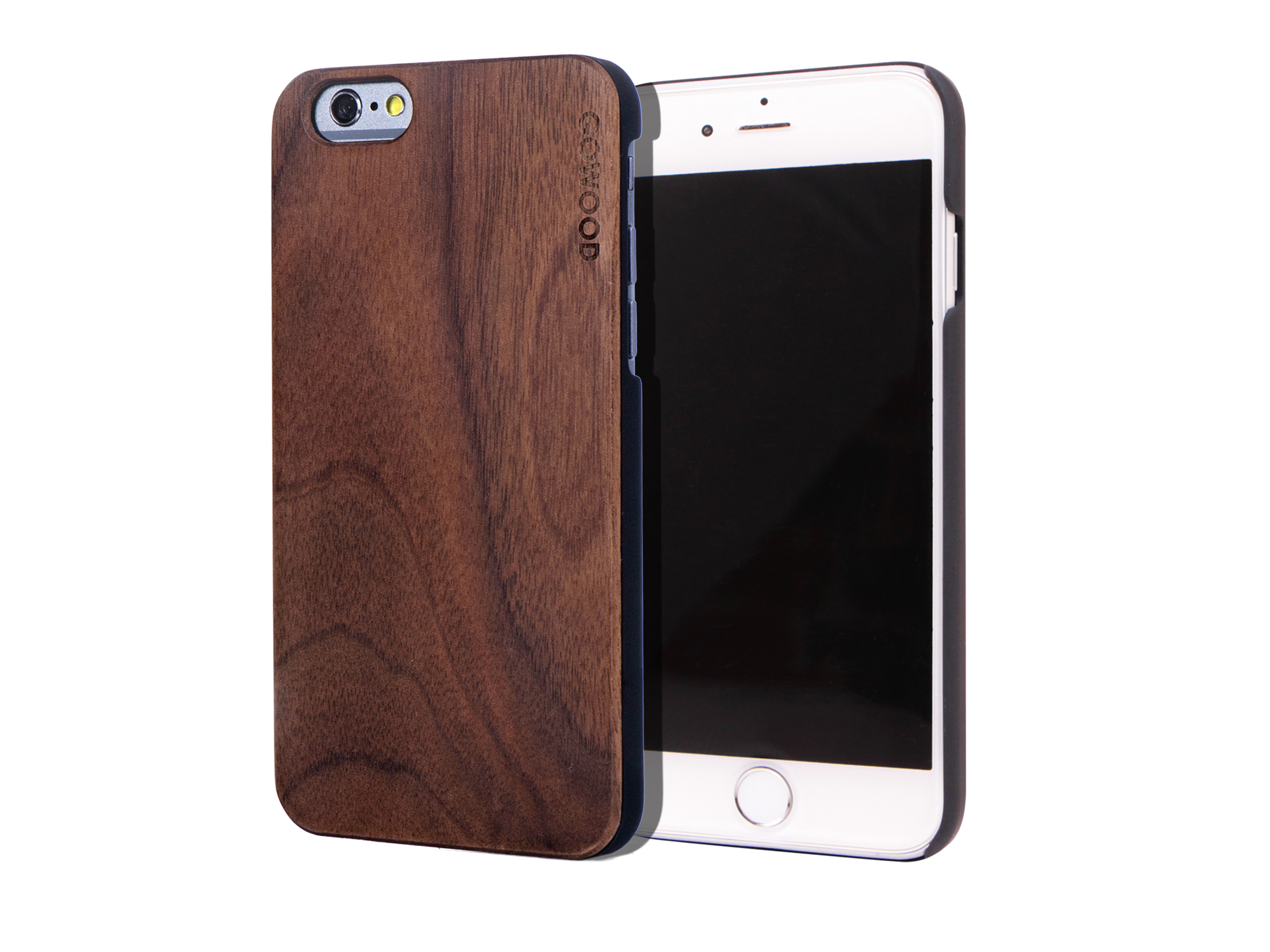 iPhone 6 case walnut wood front