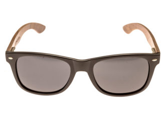 be557124861 ... classic wayfarer sunglasses with walnut legs front