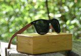 classic wayfarer sunglasses with walnut legs nature