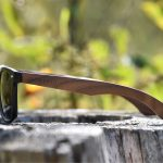 classic wayfarer sunglasses with walnut legs nature 2