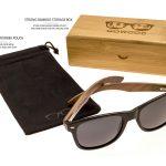 classic wayfarer sunglasses with walnut legs set