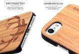 iPhone 7 wood case deer camera
