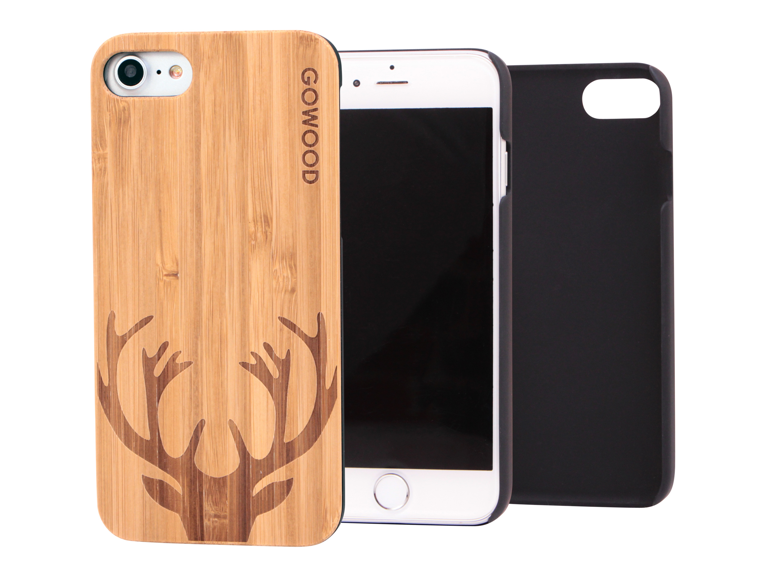 iPhone 7 wood case, iPhone 7 case bamboo deer | GoWood