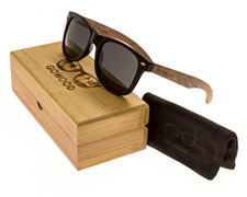 Walnut wood classic wayfarer sunglasses