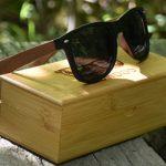 Walnoot houten wayfarer zonnebril