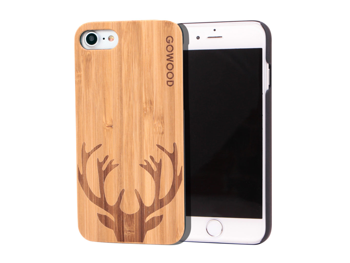 Iphone 7 And 8 Wood Case Iphone 7 And 8 Case Bamboo Deer