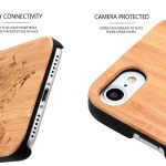 iPhone 7 and 8 wood case world map camera
