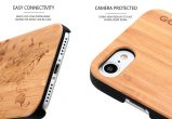 iPhone 7 wood case world map camera