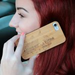 iPhone 7 and 8 wood case world map user 3
