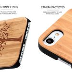 iPhone 7 and 8 wood case tree camera