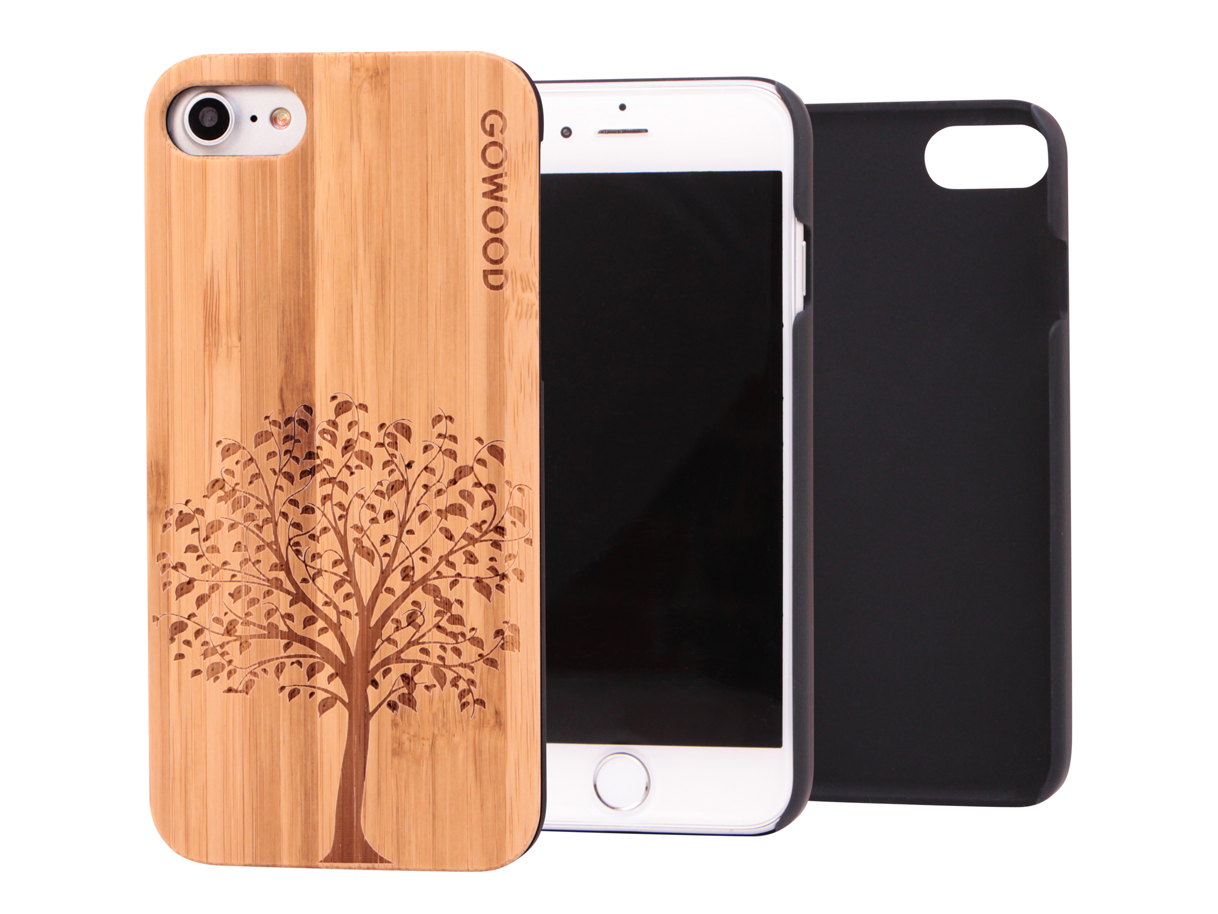 iPhone 7 and 8 wood case tree main