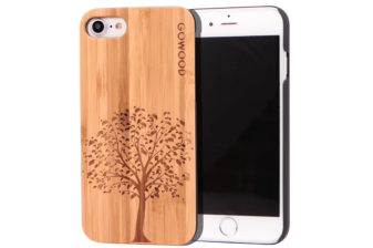 iPhone 7 and 8 wood case bamboo tree