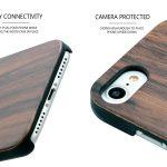 iPhone 7 and 8 wood case walnut camera