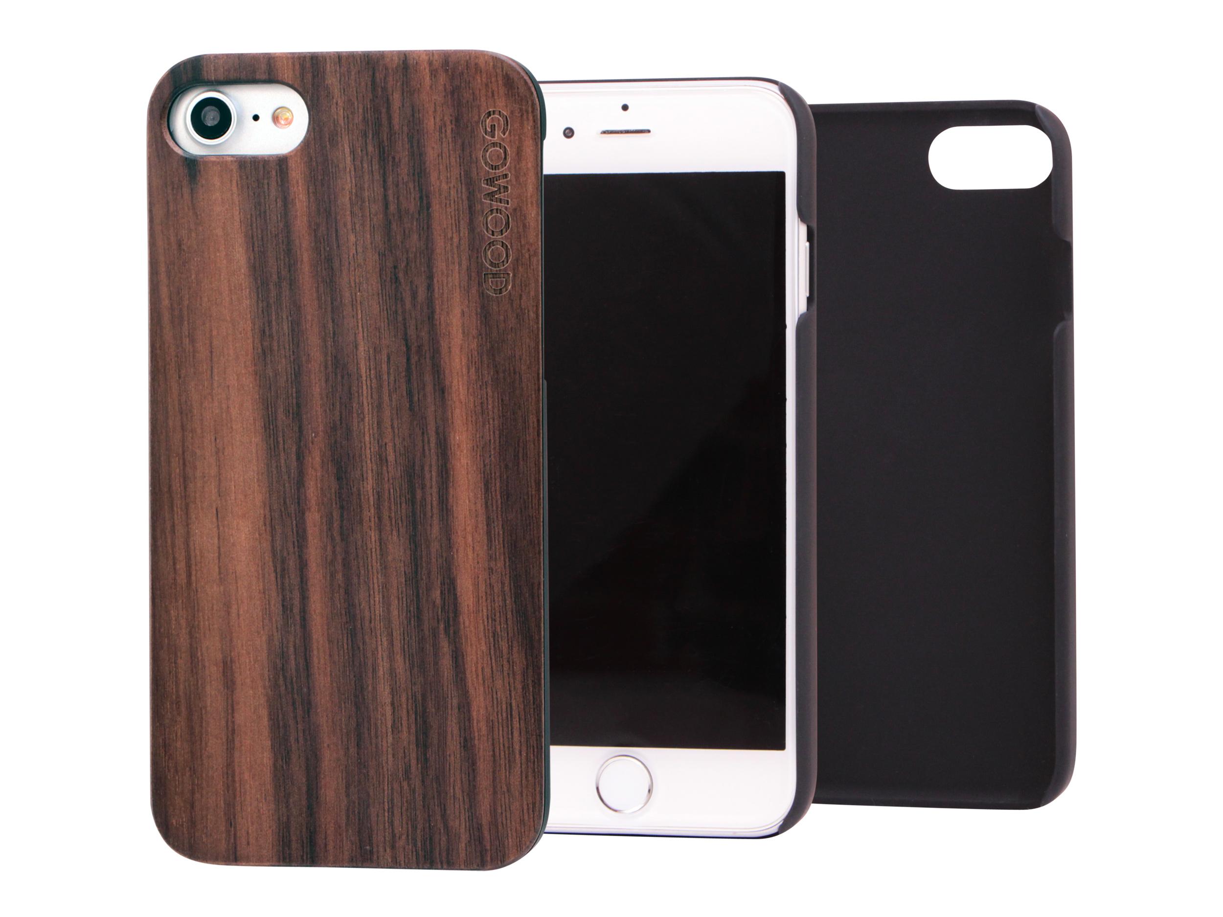 iPhone 7 hoesje walnoot hout