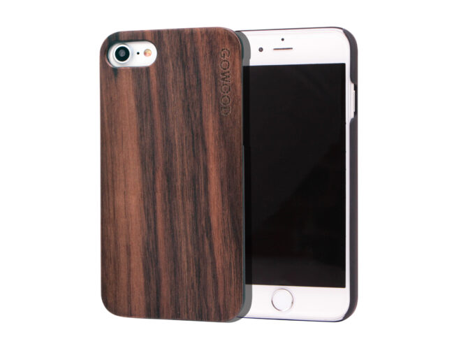 iPhone 7 and 8 wood case walnut