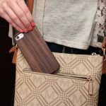 iPhone 7 and 8 wood case walnut user 2