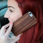 iPhone 7 and 8 wood case walnut user 3