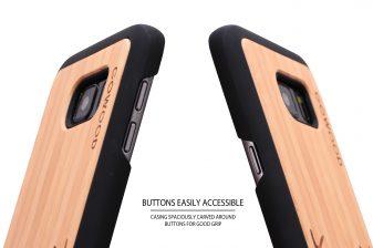 Samsung Galaxy S7 wood case deer buttons