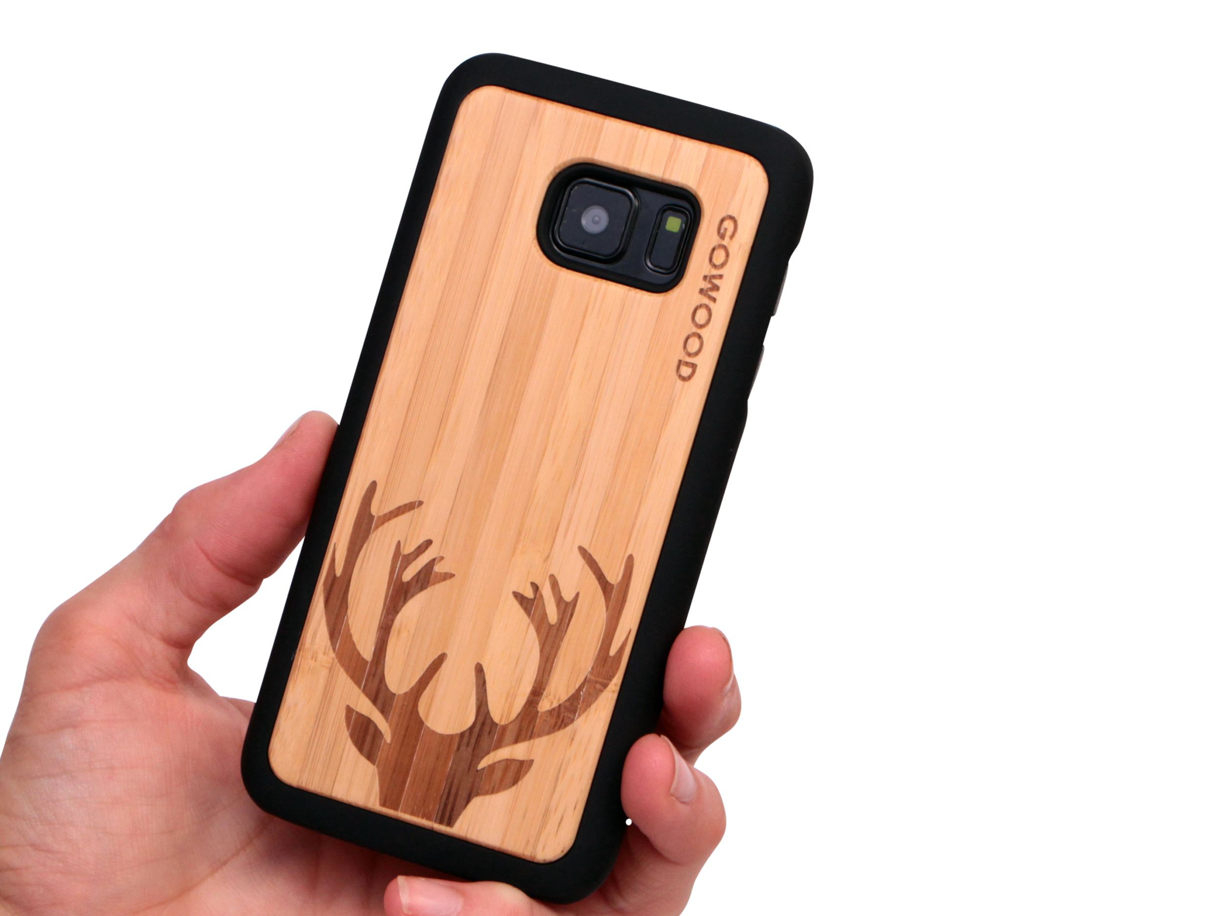 Samsung Galaxy S7 wood case deer user 1