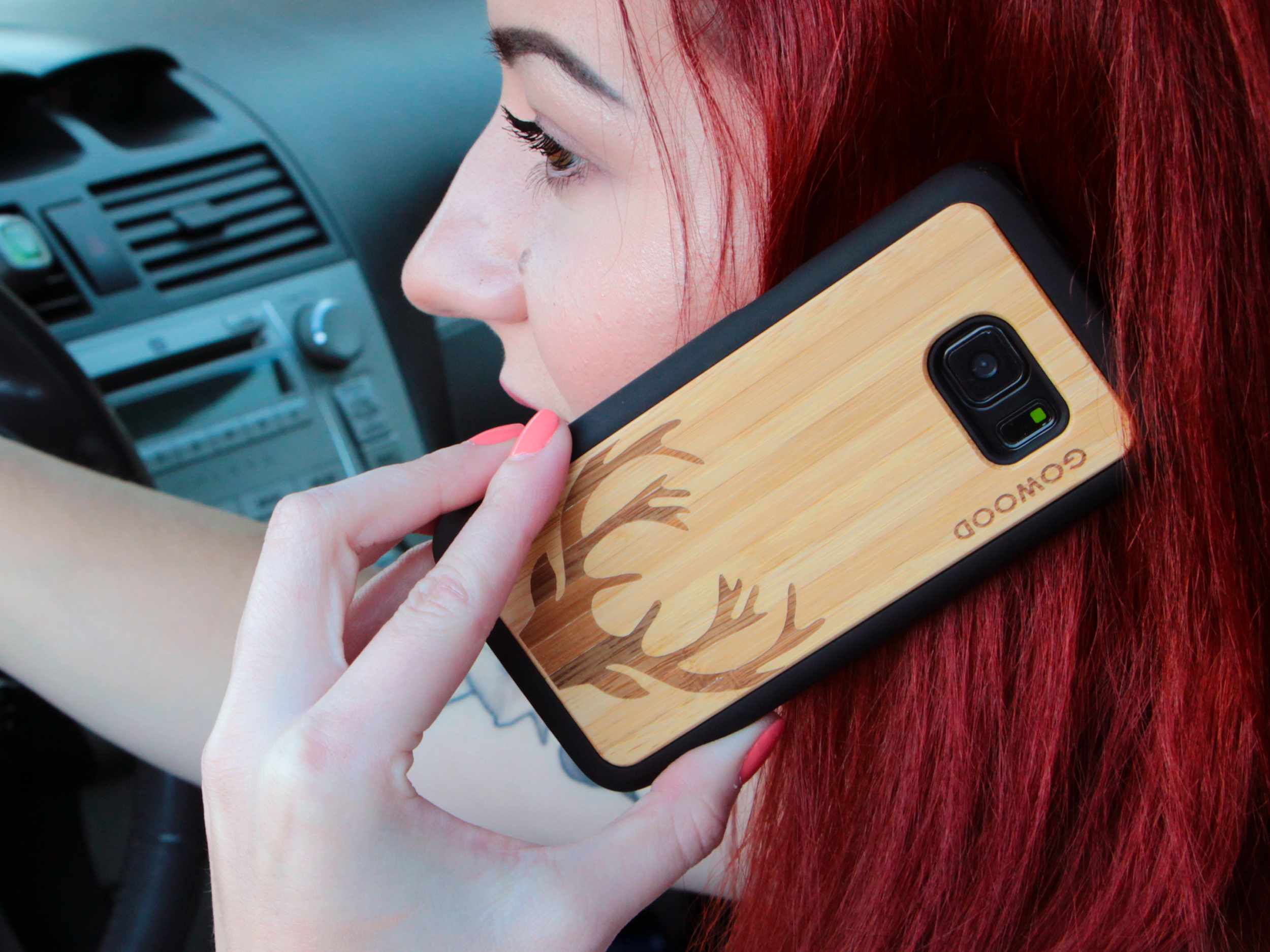 Samsung Galaxy S7 wood case deer user 2