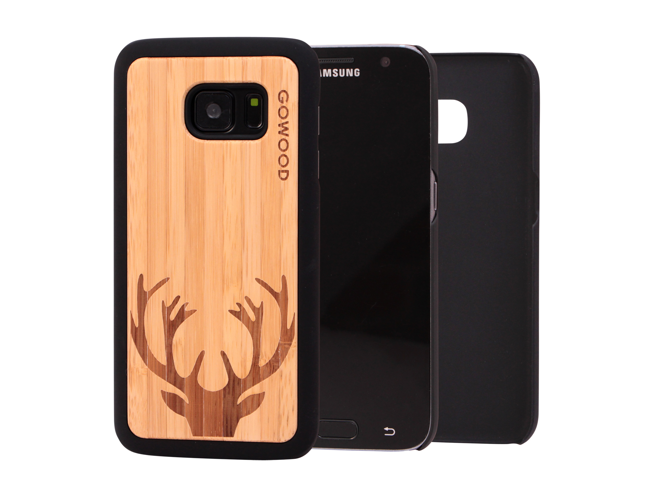 Samsung Galaxy S7 wood case, Galaxy S7 case bamboo deer : GW