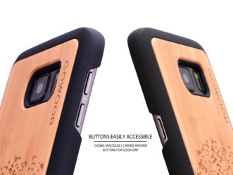 Samsung Galaxy S7 wood case tree buttons