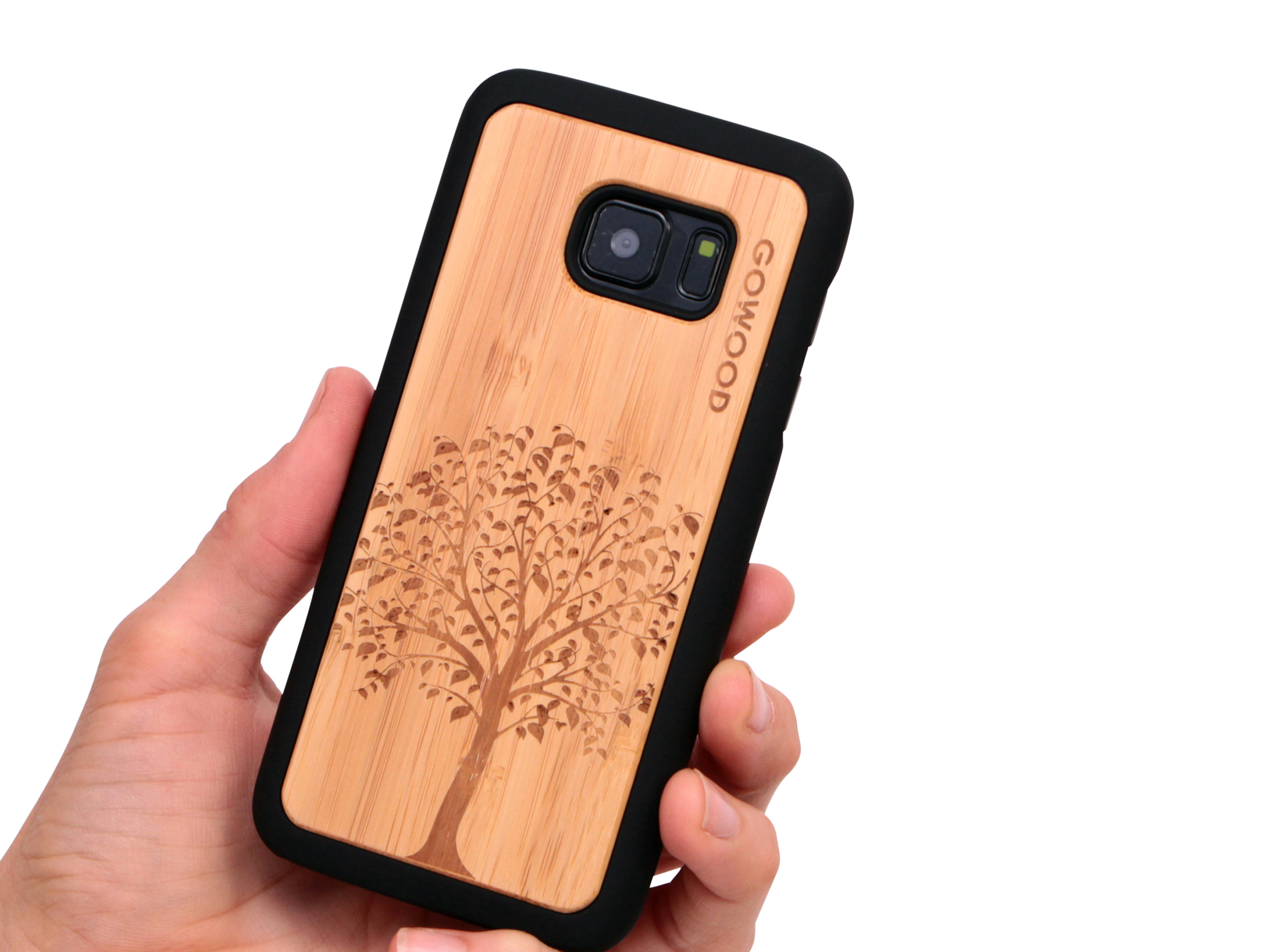 Samsung Galaxy S7 wood case tree user 1