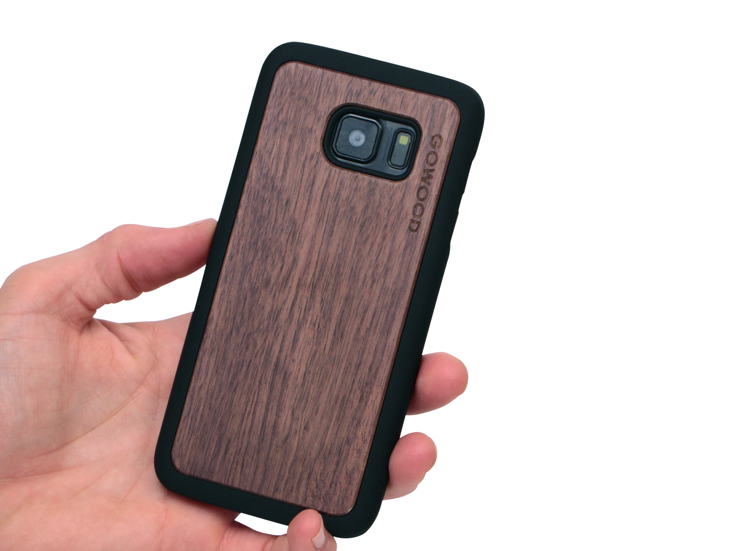 Samsung Galaxy S7 wood case walnut user 1