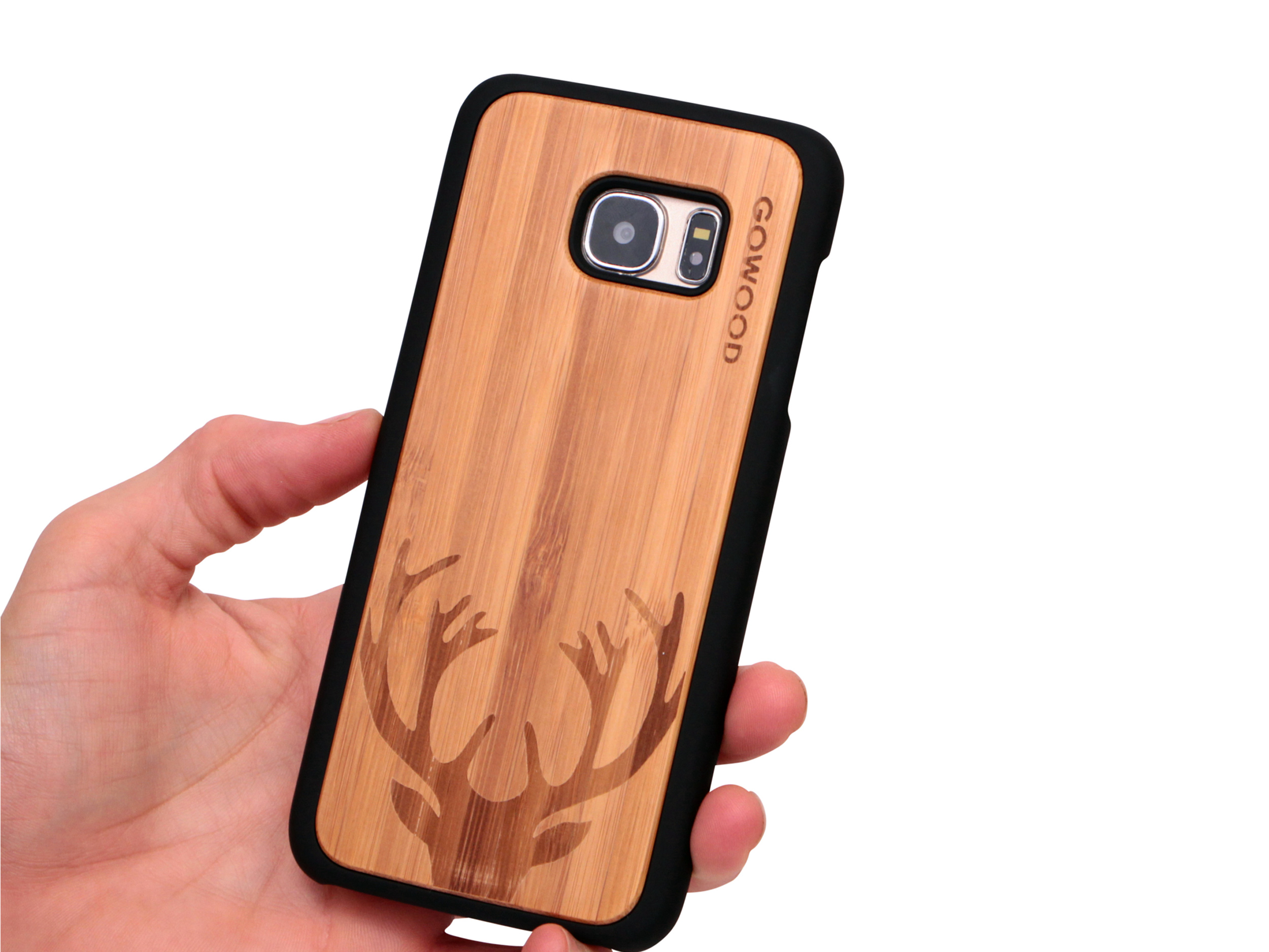 Samsung Galaxy S7 Edge wood case deer user 1
