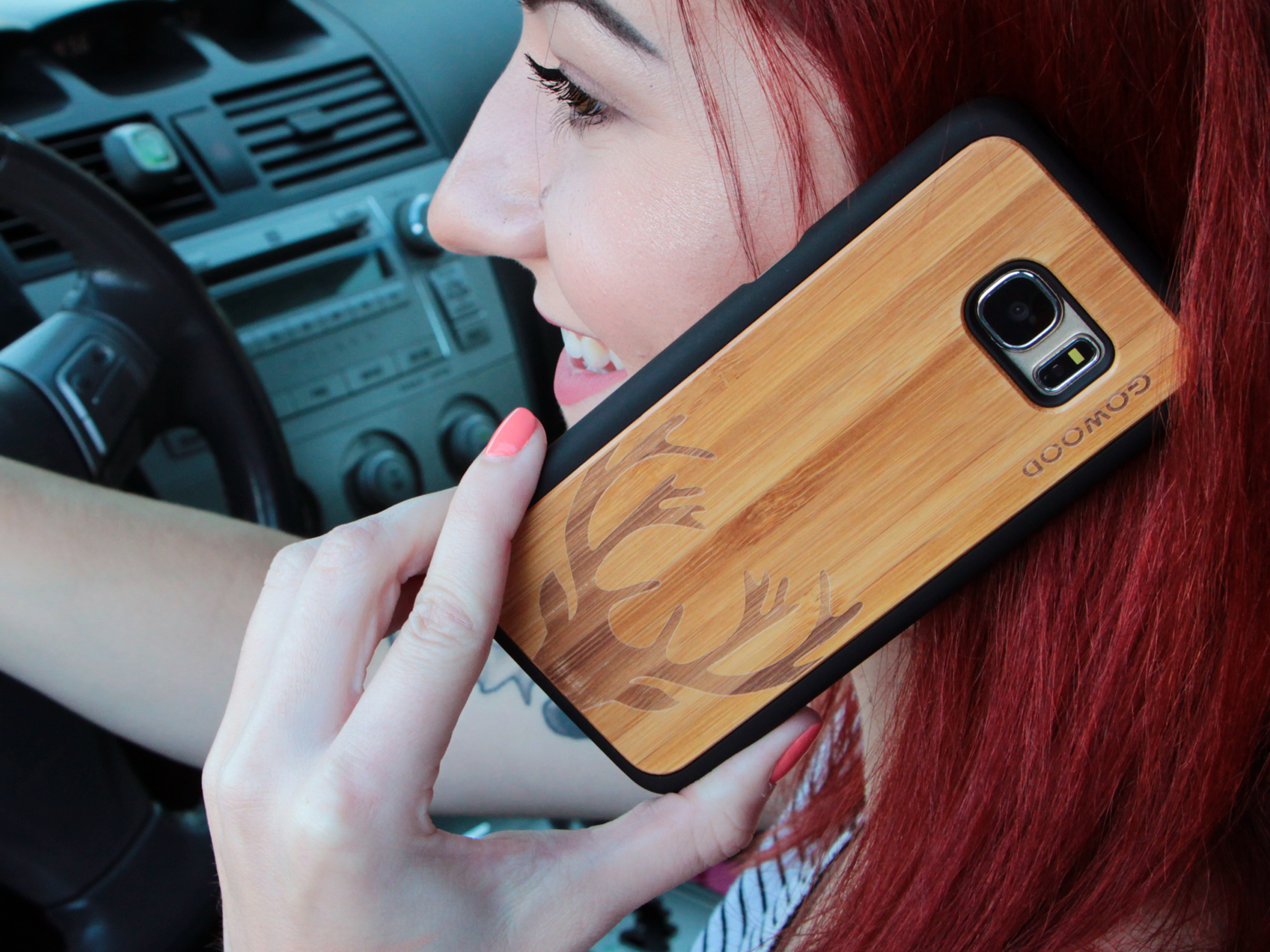 Samsung Galaxy S7 Edge wood case deer user 2