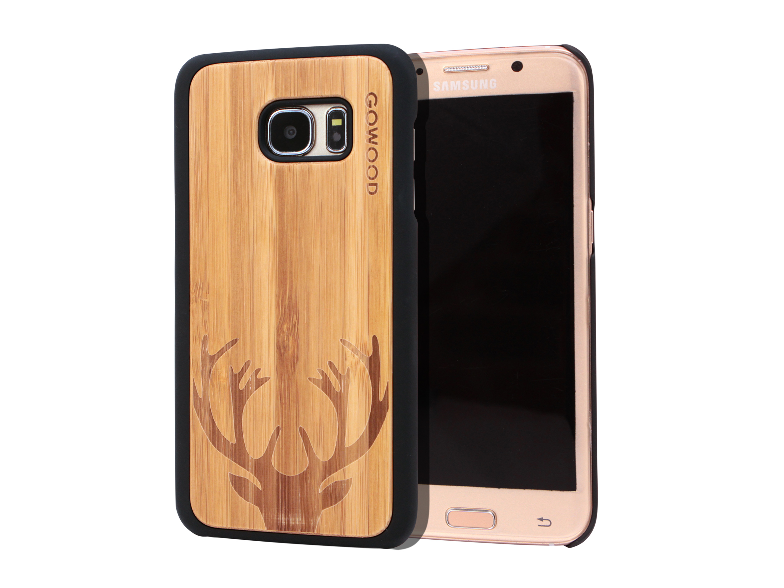 Samsung Galaxy S7 Edge wood case deer main