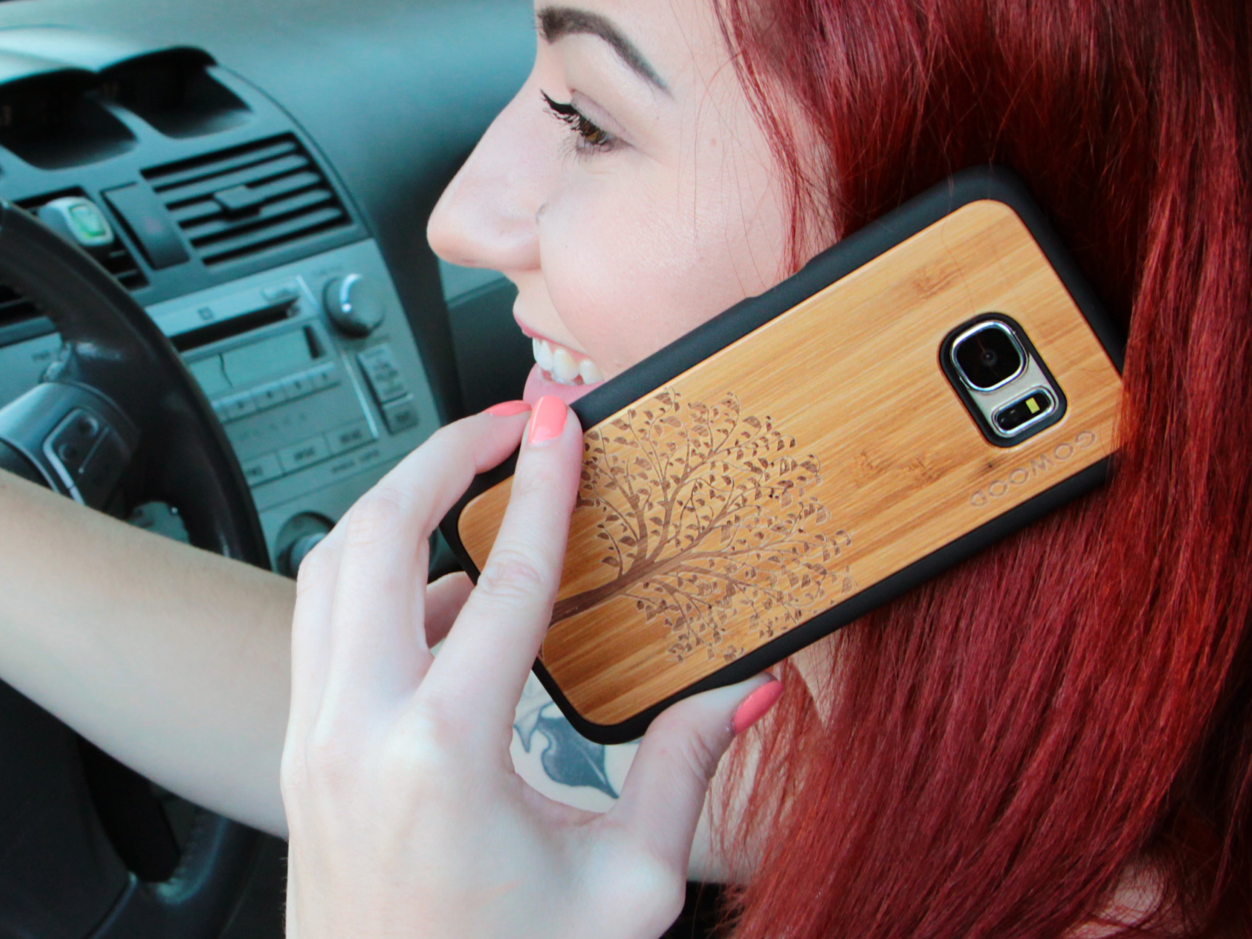 Samsung Galaxy S7 Edge wood case tree user 2