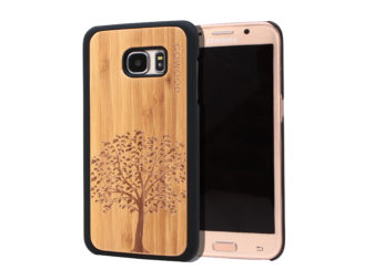 Samsung Galaxy S7 Edge wood case tree main