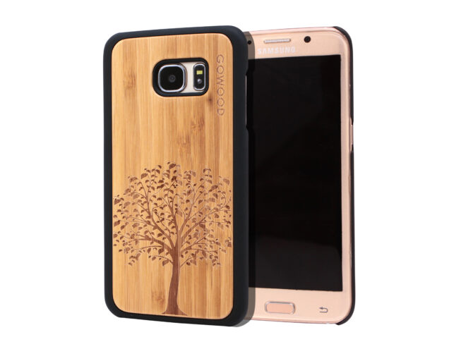 Samsung Galaxy S7 Edge wood case tree main